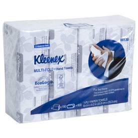 """Kleenex Multifold Paper Towels, 9-1/5"""" X 9-2/5"""", White, 16/Case KIM88130 by"""
