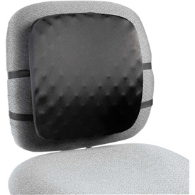 "Halfback Back Support Chair Pad, 13""W x 1-1/2""D x 13-3/4""H, Black"