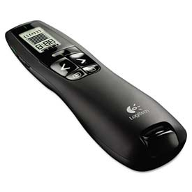 Buy Logitech 910-001350 Professional Wireless Presenter w/Green Laser Pointer, 100ft Projection, Black