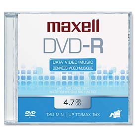 Click here to buy Maxell 638000 DVD-R Disc, 4.7GB, 16x.