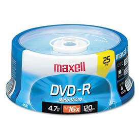 Buy Maxell 638010 DVD-R Discs, 4.7GB, 16x, Spindle, Gold, 25/Pack