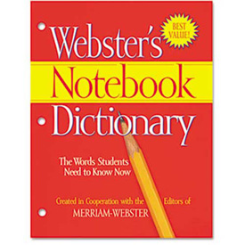 Buy Merriam Webster Notebook Dictionary, Three Hole Punched, Paperback, 80 Pages