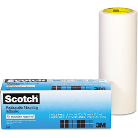 3M Positionable Mounting Adhesive, 24 in x 50 ft, Clear by