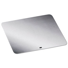 3M MP200PS2 Precise Mouse Pad with Repositionable Adhesive Backing, Silver by