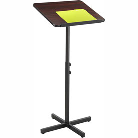 Adjustable Speaker Stand, Wood Laminate Top, Mahogany