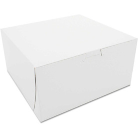 "Bakery Boxes 8"" x 8"" x 4"" White - 250 Pack"