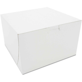 """Bakery Boxes 8"""" x 8"""" x 5"""" White - 100 Pack"""