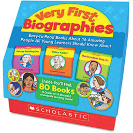 Scholastic Very First Biographies, Eight pages/16 Books and Teaching Guide, PreK-K
