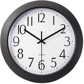 "Buy Universal One Whisper Quiet Clock, 12"", Black"