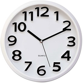Buy Universal Round Wall Clock, White, 13""