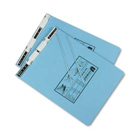 Universal Pressboard Hanging Data Binder, 9-1/2 x 11, Unburst Sheets, Light Blue