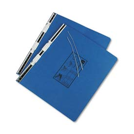 Universal Pressboard Hanging Data Binder, 14-7/8 x 11, Unburst Sheets, Blue