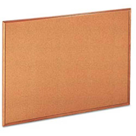 "Universal® Cork Board, Oak Frame, 48""W x 36""H, Natural"