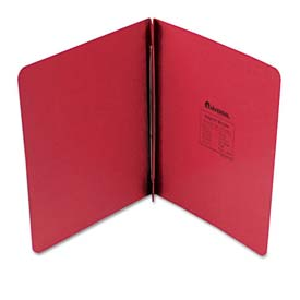 "Universal Pressboard Report Cover, Prong Clip, Letter, 3"" Capacity, Executive Red"