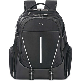 "SOLO Active Laptop Backpack, 17.3"", 12 1/2 x 6 x 18 3/4, Black by"