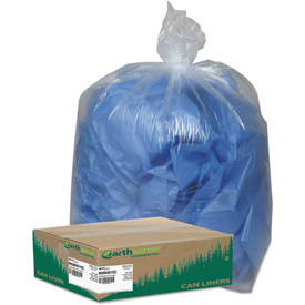 Earthsense Commercial Recycled Can Liners 31-33 Gallon 1.25 Mil, Clear 100... by