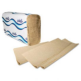 Embossed Multifold Paper Towels, 9-1/4 x 9-1/2, Natural, 250/Pack, 16/Carton WNS1040 by