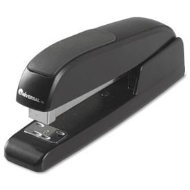 Universal Executive Full Strip Stapler, 20 Sheet Capacity, Black