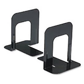 Standard Economy Metal Bookends, Black Enamel