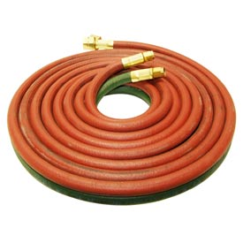 "12.5' Oxy/Lp Gas Grade ""T"" Twin Hose - 3/8""(A) And 9/16"" (B) Connections - Pkg Qty 2"