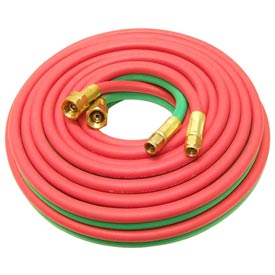 "25' Oxyacetylene Twin Hose - 3/8"" (A) and 9/16"" (B) Connections"
