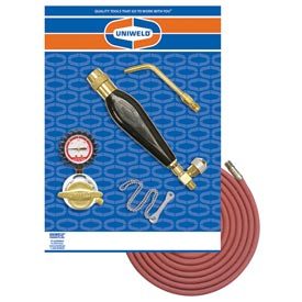 Uniweld K37 - Air/Acetylene Soft Flame Kit (Screw Connect) - RB Regulator & TH3 Handle