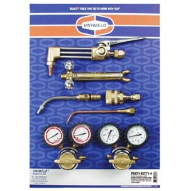 Uniweld® KLT71-4 - Patriot® Outfit w/ Air Fuel Adaptor for Welding, Brazing & Cutting