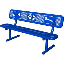 BarkPark Basic Bench Blue by