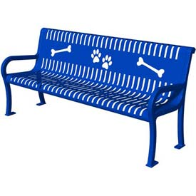 BarkPark Deluxe Bench Blue by