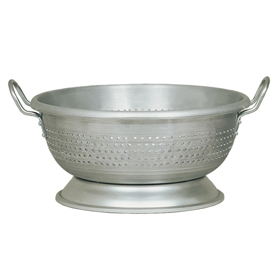 Update Int. 16 Quart Aluminum Colander With Handles & Base Package Count 4 by
