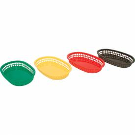 "Update International Green Fast Food Basket 10-1/2"" x 7"" BB107G Package Count 3 by"
