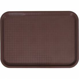 "Update International Fast Food Tray, 16-1/4""L x 12""W x 3/4""H, Brown,... by"