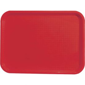 "Update International Fast Food Tray, 14""L x 18""W x 3/4""H, Red, FFT-1418RD... by"