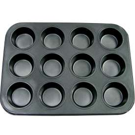 Update International Non-Stick Carbon Muffin Pan, 12 Cup Cap., MPNS-12 Package Count 12 by
