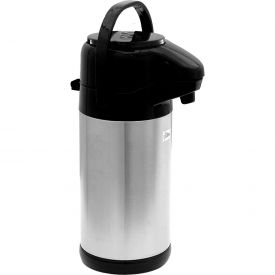 Update International Airpot Sup-R-AirW/Push Button Top, 2-1/2 Ltr., Black, NVSP-25BK... by