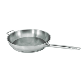 "12"" Natural Finish Stainless Steel Fry Pan 2"" Deep Package Count 4 by"