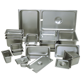 """Update Int. Sixth Size Steam Table Pan, Anti-Jam 22 Gauge 4"""" Deep Package Count 12 by"""