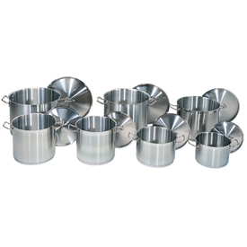 32 Quart Stainless Steel Stock Pot Package Count 4 by
