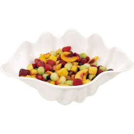 "Update International Shell Salad Bowl, 18-1/2""L x 12-3/4""W x 8-1/4""H, SAN Plastic, SSB-5W Package Count 6 by"