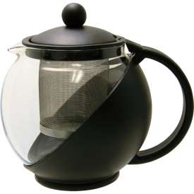 Update International Teapot W/Stainless Steel Infuser, 25 Oz., TPI-75 Package Count 12 by