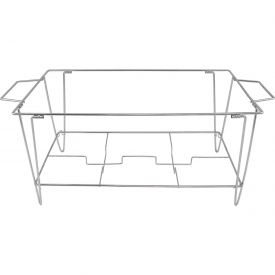"Update International Collapsible Wire Continental Chafer Stand, 20-1/2""L, Stainless Steel, WCS-KD - Pkg Qty 10"