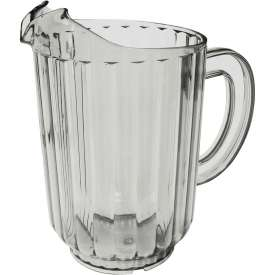 "Click here to buy Update International Water Pitcher, 60 Oz., 5""Dia. x 8-1/8""H, S.A.N. Material, WP-60SC Package Count 12."