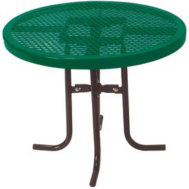 "30"" High Food Court Round Table, Diamond 36""Diameter - Green"