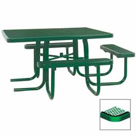"3-Seat, 46"" ADA Square Table, Diamond 78""W x 72""D - Green"
