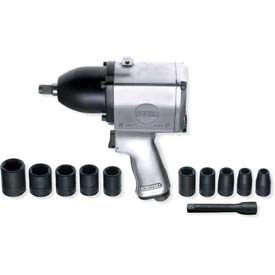 "Urrea Heavy Duty Pin Clutch Pistol Grip Impact Wrench Set UP734HKM, 1/2"" Drive, 7000 RPM by"