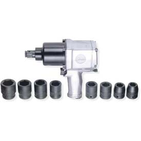 "Urrea Twin Hammer Pistol Grip Impact Wrench Set UP772HK, 3/4"" Drive, 6500 RPM, 750 Ft-Lbs Torque by"