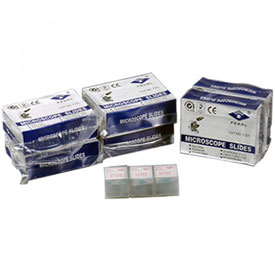 AmScope BS-300P-300S 300 pcs. Blank Microscope Slides and 300 pcs. Square Cover Slips by