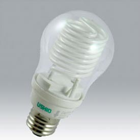 Ushio 3000528 Cf-8cc/2700/E26, Cold Cathode, A19, 8 Watts, 25000 Hours Bulb - Pkg Qty 12