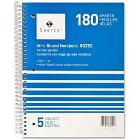 sparco 180 sheets 5 subjects college ruled best review sites