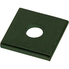 "Unistrut 1-5/8"" Square Washer P1063gr, 1 Hole, Perma-Green Iii, 3/8"" Package Count 100 by"